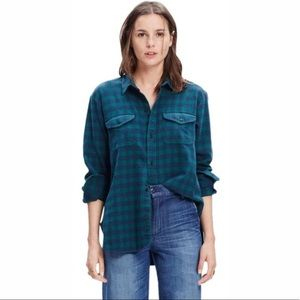 MADEWELL Green and Blue Flannel Cargo Workshirt